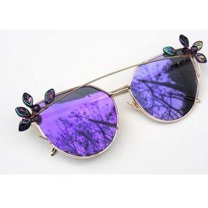Embellished purple sunglasses
